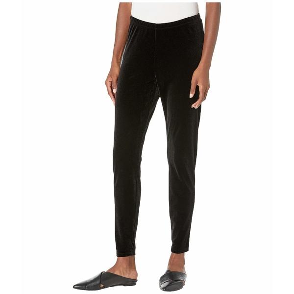 エイリーンフィッシャー レディース カジュアルパンツ ボトムス Recycled Polyester Stretch Velvet Ankle Leggings Black