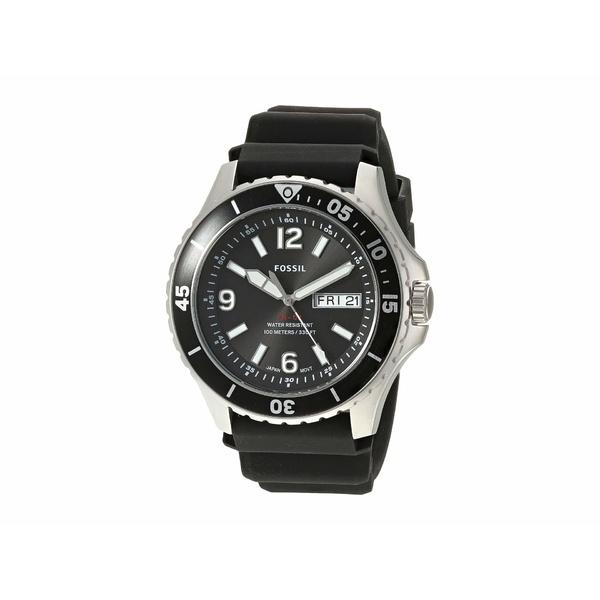 フォッシル メンズ 腕時計 アクセサリー FB-02 Three-Hand Date Men's Watch FS5689 Black Silicone