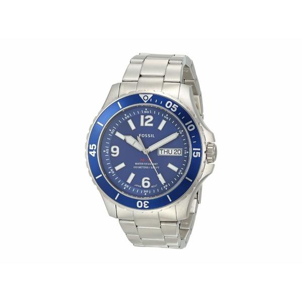 フォッシル メンズ 腕時計 アクセサリー FB-02 Three-Hand Date Men's Watch FS5691 Silver Stainless Steel