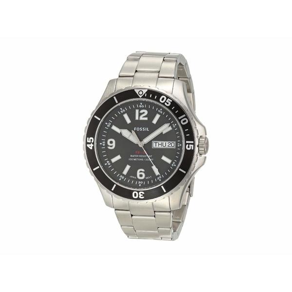 フォッシル メンズ 腕時計 アクセサリー FB-02 Three-Hand Date Men's Watch FS5687 Silver Stainless Steel
