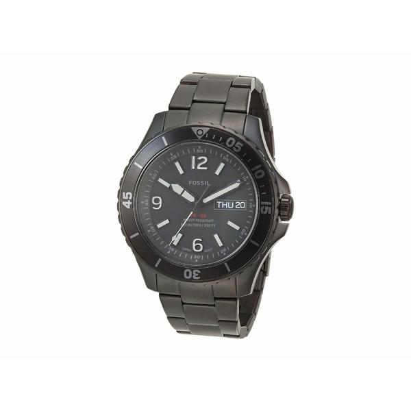フォッシル メンズ 腕時計 アクセサリー FB-02 Three-Hand Date Men's Watch FS5688 Black Stainless Steel