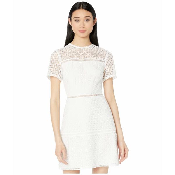 テッドベーカー レディース ワンピース トップス Allara Short Sleeve Lace Mini Dress Ivory