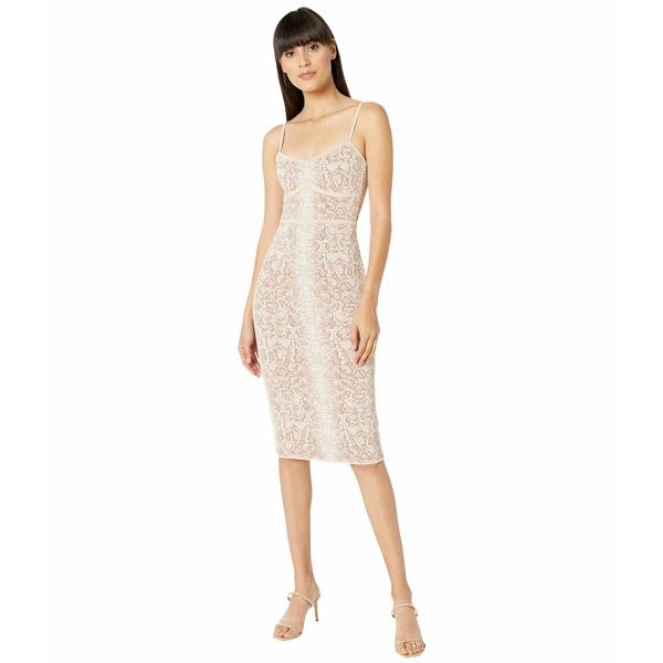 ビーシービージーマックスアズリア レディース ワンピース トップス Python Knit Dress Bare Pink Combo