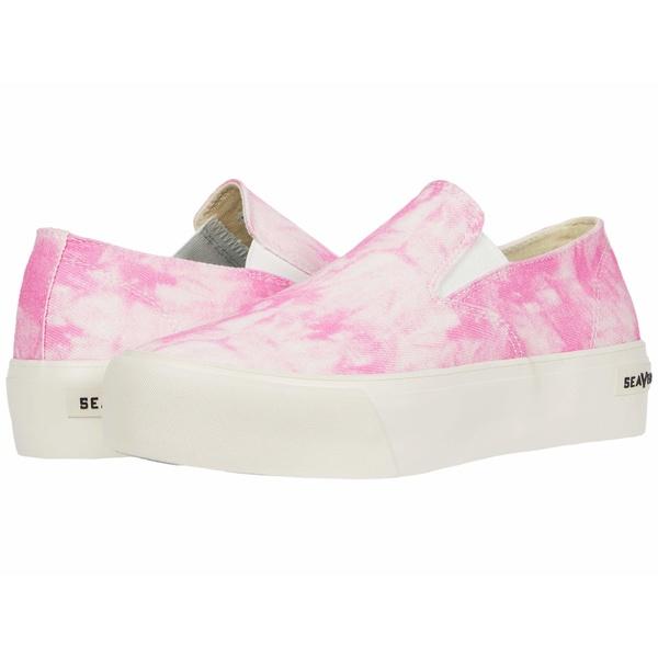 シービーズ レディース スニーカー シューズ Baja Slip-On Platform Tie-Dye Pink