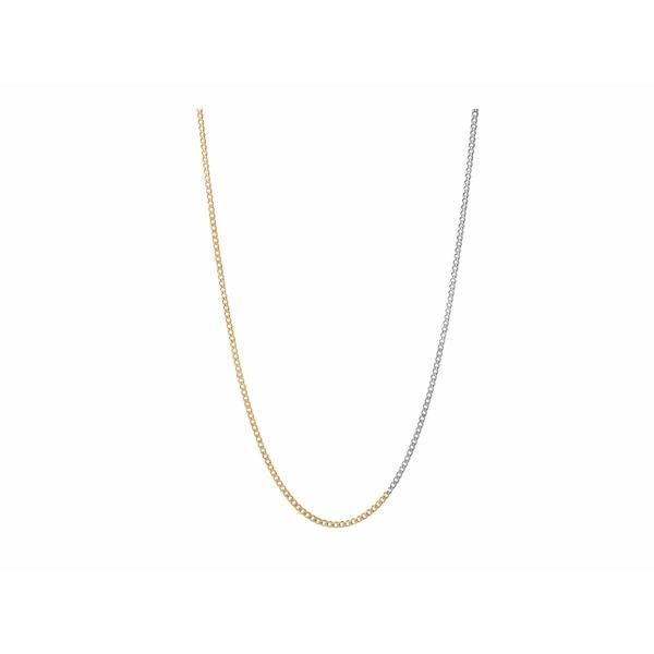 ミアンサイ メンズ ネックレス・チョーカー アクセサリー 3 mm Chain Necklace Matte Oxidized/Polished Gold