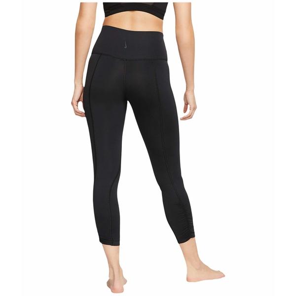 ナイキ レディース カジュアルパンツ ボトムス Yoga Ruche 7/8 Tights Black/Dark Smoke Grey