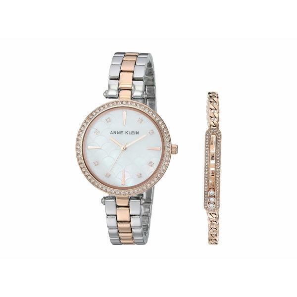 アンクライン レディース 腕時計 アクセサリー Two-Tone Watch and Bracelet Set Silver/Rose Gold-Tone