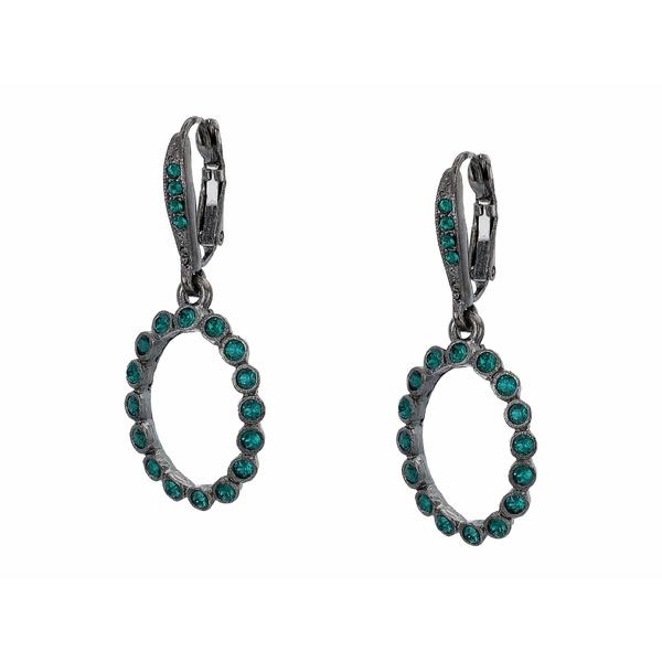 オスカー デ ラ レンタ レディース ピアス&イヤリング アクセサリー Small Crystal Circle P Earrings Emerald