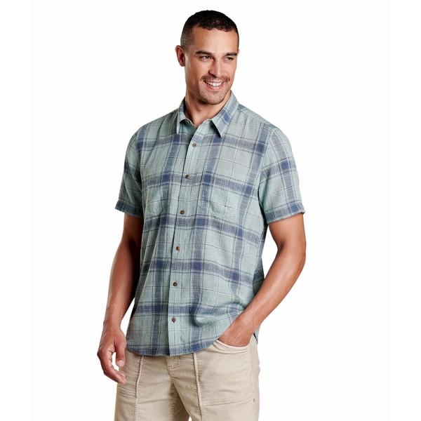 ドード アンドコー メンズ シャツ トップス Salton Short Sleeve Shirt Blue Surf