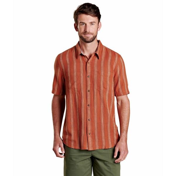 ドード アンドコー メンズ シャツ トップス Salton Short Sleeve Shirt Coconut Shell Stripe