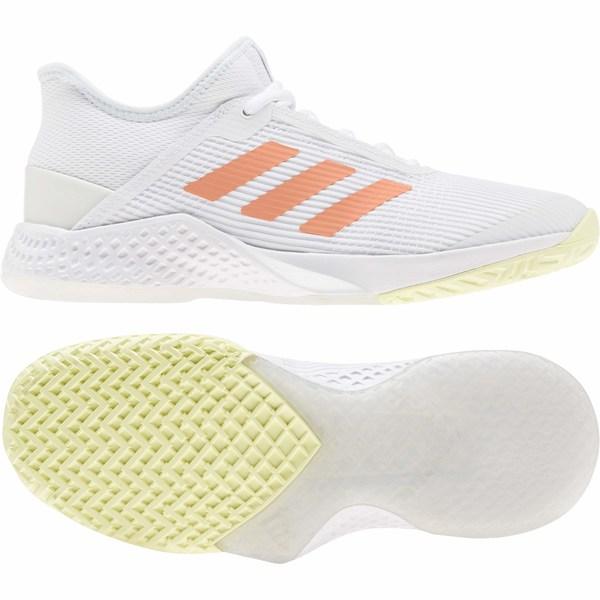 アディダス レディース スニーカー シューズ Adizero Club Footwear White/Amber Tint/Sky Tint
