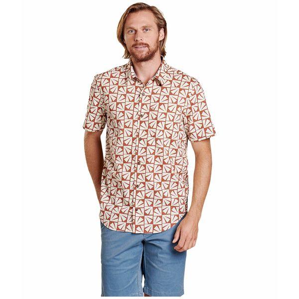 ドード アンドコー メンズ シャツ トップス Fletch Short Sleeve Shirt Coconut Shell Sun Print