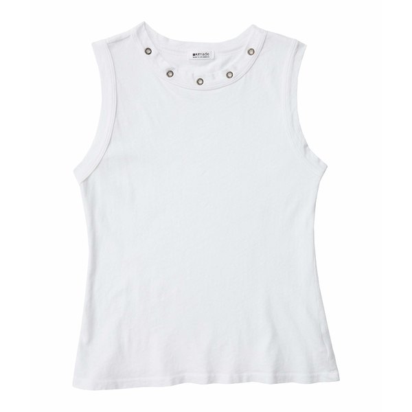 ラメイド レディース シャツ トップス Brea Vintage Stretch Jersey with Grommets White