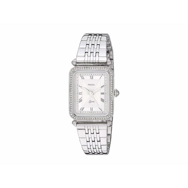 フォッシル レディース 腕時計 アクセサリー Lyric Three-Hand Watch ES4721 Silver Stainless Steel