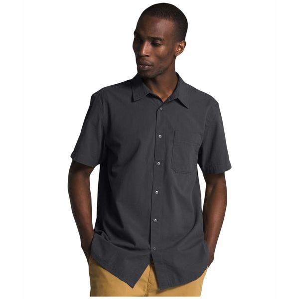 ノースフェイス メンズ シャツ トップス Short Sleeve Baytrail Pattern Shirt Asphalt Grey