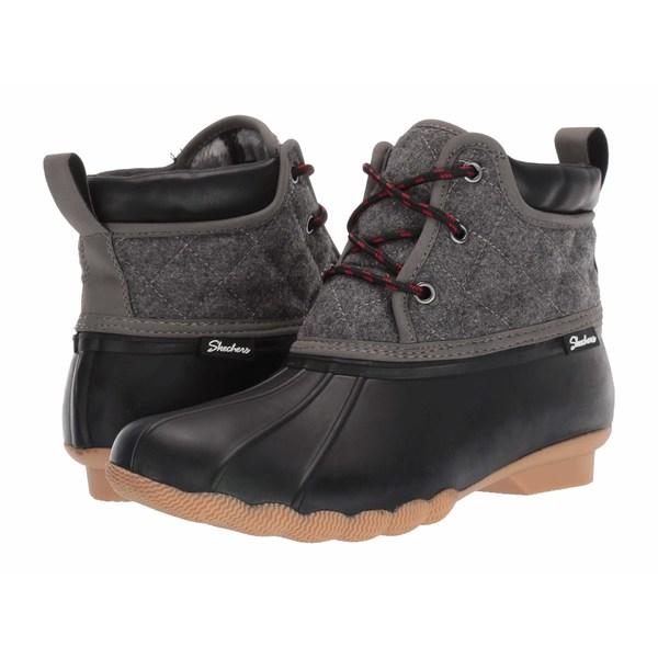 スケッチャーズ レディース ブーツ&レインブーツ シューズ Mid Quilted Lace-Up Boot Black/Charcoal
