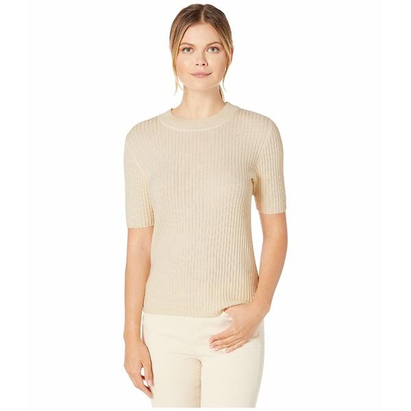 ペンドルトン レディース ニット&セーター アウター Short Sleeve Merino Rib Pullover Antique White