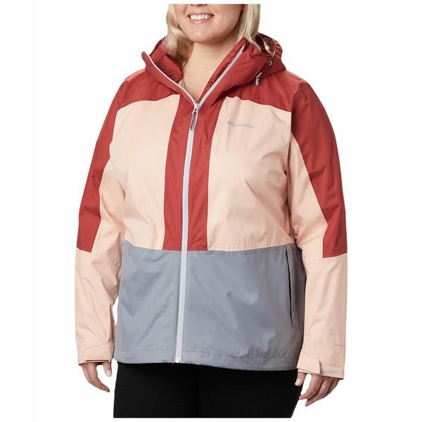 コロンビア レディース コート アウター Plus Size Windgates Jacket Tradewinds Grey/Peach Cloud/Dusty Crimson