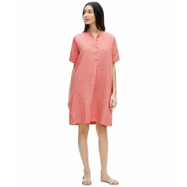 エイリーンフィッシャー レディース ワンピース トップス Mandarin Collar Dress Bright Sandstone