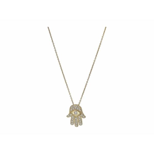 ロバートコイン レディース ネックレス・チョーカー・ペンダントトップ アクセサリー Tiny Treasures 18K Diamond Hamsa Necklace Yellow Gold0wmnN8