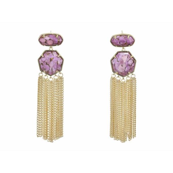 ケンドラスコット レディース ピアス&イヤリング アクセサリー Tate Statement Earrings Gold/Bronze/Veined Lilac