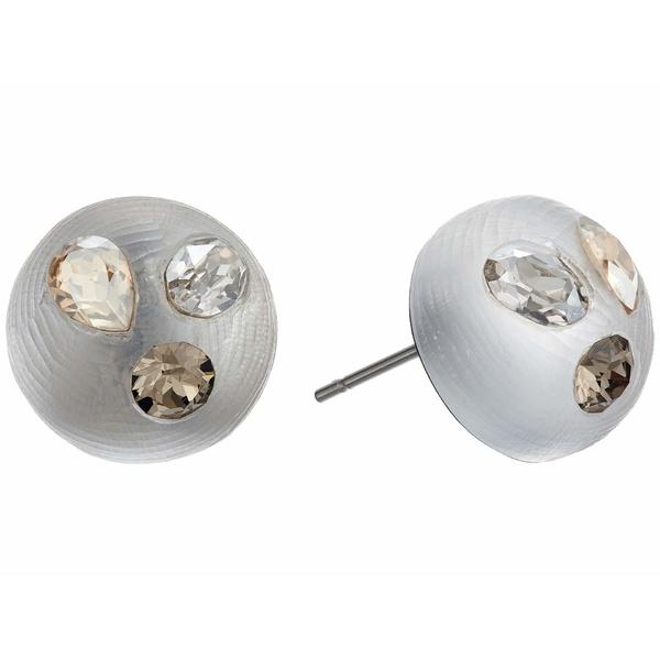 アレクシス ビッター レディース ピアス&イヤリング アクセサリー Crystal Studded Button Post Earrings Silver