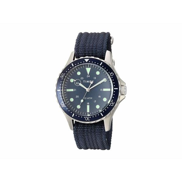 タイメックス メンズ 腕時計 アクセサリー 41 mm Navi XL 3-Hand Silver/Blue/Blue