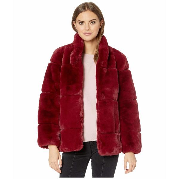 アッパリス レディース コート アウター Sarah 2 Faux Fur Coat Ruby Red