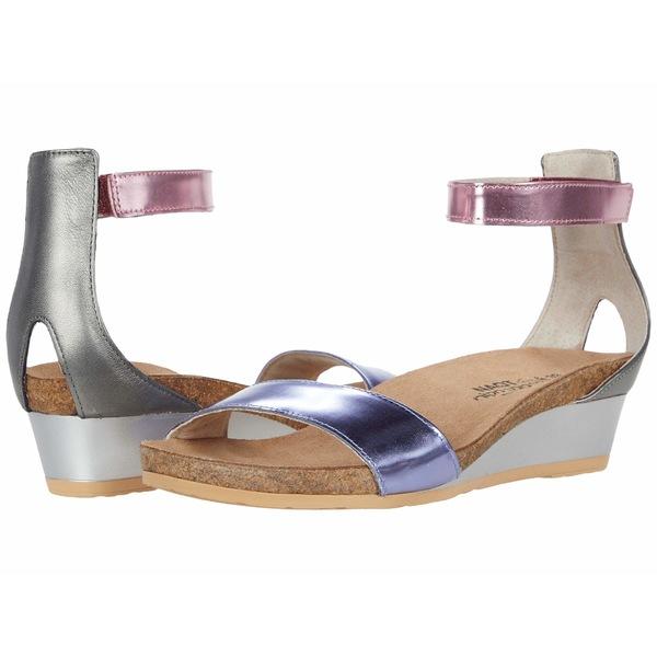 ナオト レディース サンダル シューズ Pixie Purple Mirror Leather/Pink Mirror Leather/Sterling Leather