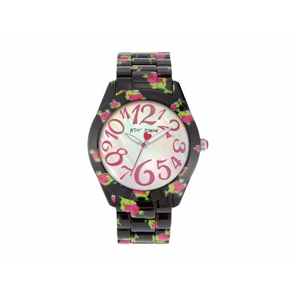 ベッツィジョンソン レディース 腕時計 アクセサリー Printed Roses Watch Black