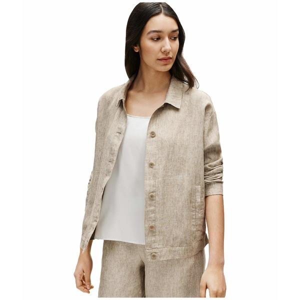 エイリーンフィッシャー レディース コート アウター Classic Collar Jacket Khaki