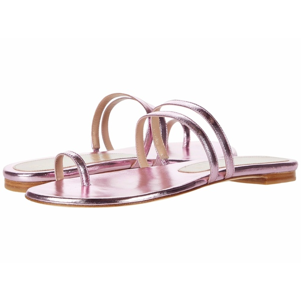 スチュアート ワイツマン レディース サンダル シューズ Leonita Slide India Pink Metallic Nappa