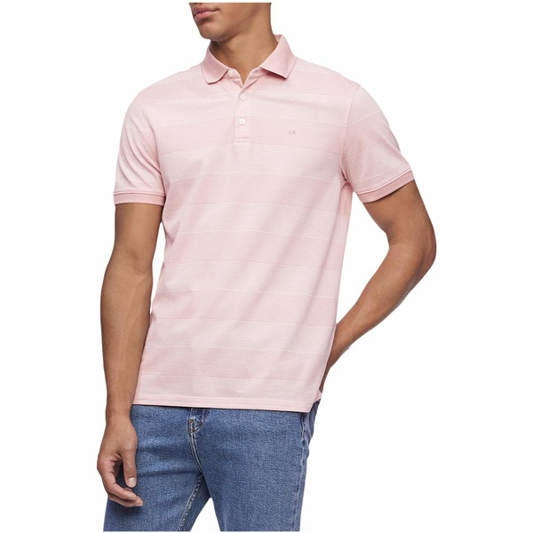 カルバンクライン メンズ シャツ トップス Short Sleeve Liquid Touch Polo Shirt Bridal Rose Com