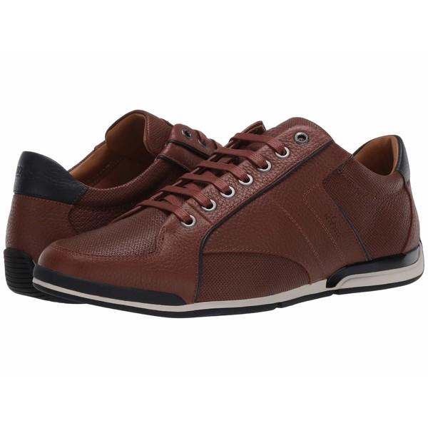 ヒューゴボス メンズ スニーカー シューズ Saturn Low Top Sneaker Medium Brown