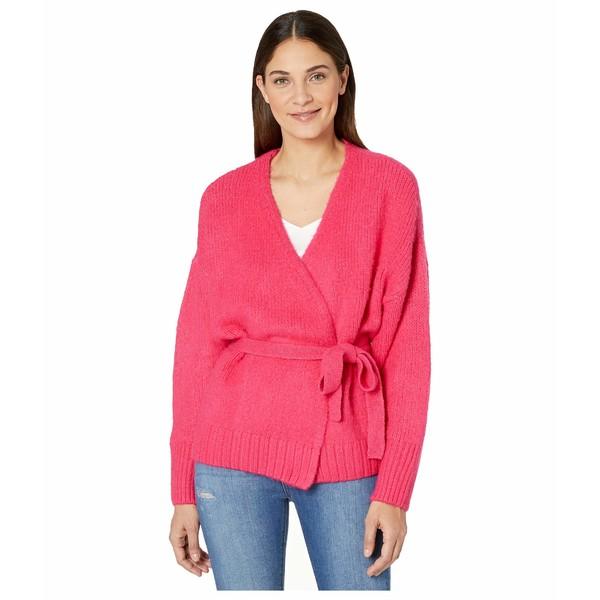 ワンステイト レディース ニット&セーター アウター Belted Jersey Stitch Cardigan Rapture Pink