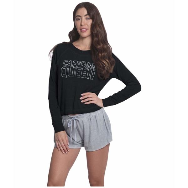 サンダウン レディース パーカー・スウェットシャツ アウター Caffeine Queen Sweatshirt Black