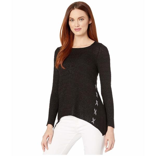 ニックプラスゾーイ レディース ニット&セーター アウター Cross Stitch Sweater Black Onyx