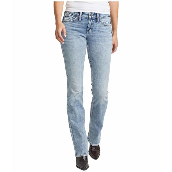 シルバージーンズ レディース デニムパンツ ボトムス Suki Mid-Rise Curvy Fit Slim Bootcut Jeans L93606SSX152 Indigo