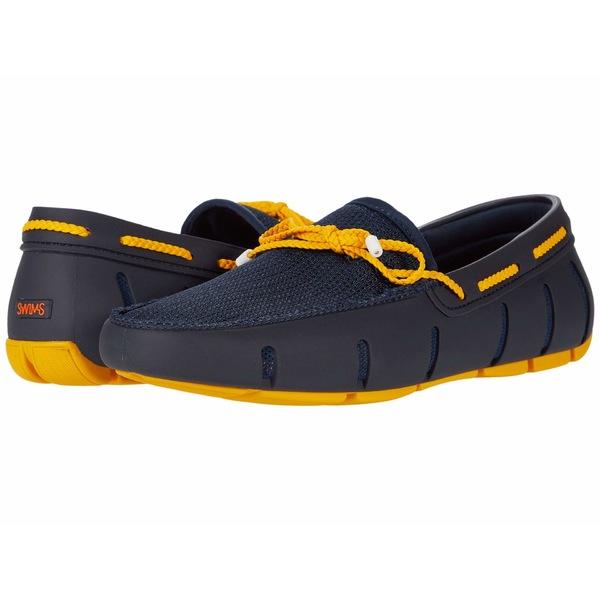スウィムス ついに入荷 メンズ 期間限定特価品 シューズ スリッポン ローファー Navy Loafer 全商品無料サイズ交換 Braided Gold Fusion Lace