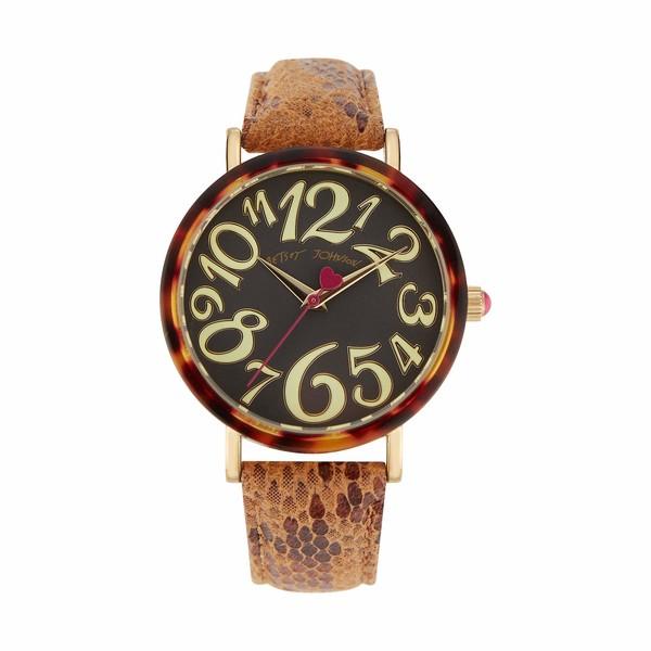 ベッツィジョンソン レディース 腕時計 アクセサリー Sleek Slithering Watch Gold