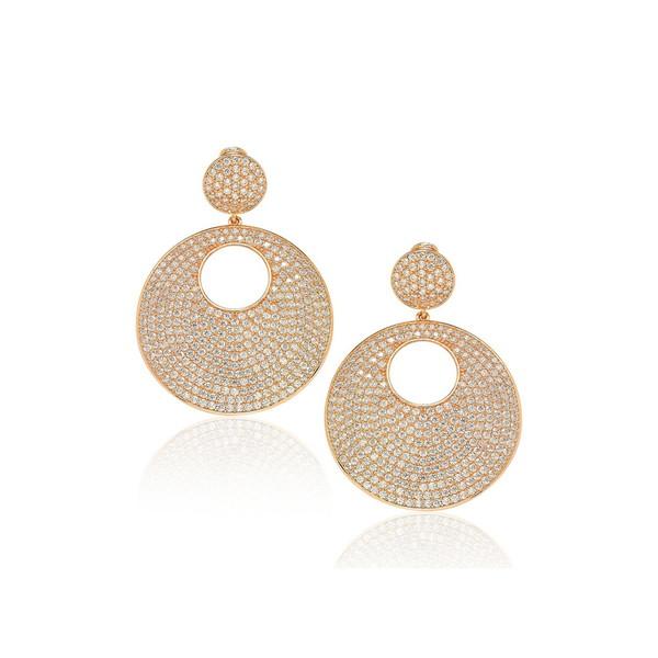 Sterling Drop Earrings Gold Silver レディース スージレビアン CZ ピアス&イヤリング アクセサリー ROSE