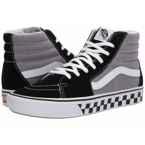 バンズ メンズ スニーカー シューズ ComfyCush SK8-Hi (Tape Mix) Black/Frost Gray