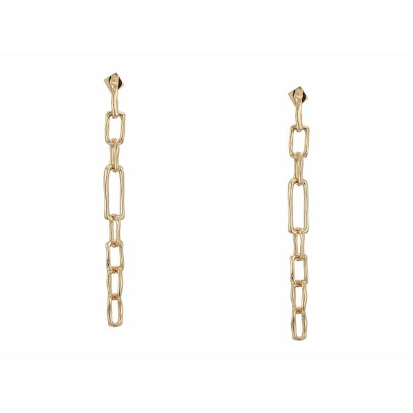 アレクシス ビッター レディース ピアス&イヤリング アクセサリー Long Chain Link Post Earrings 10K Gold