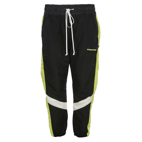 ダニエルパトリック メンズ カジュアルパンツ ボトムス Daniel Patrick Contrast Stripe Track Pants Blackyellow