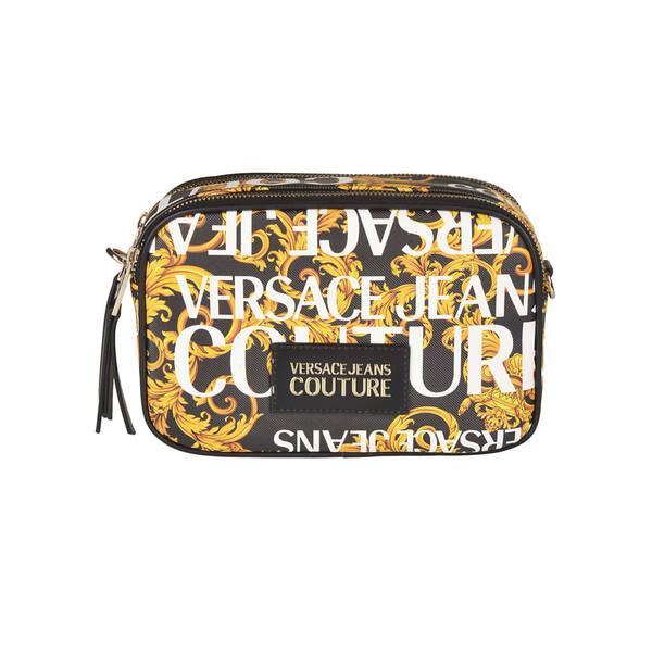 ベルサーチ レディース クラッチバッグ バッグ Versace Jeans Couture Logo All-over Logo Patch Clutch -