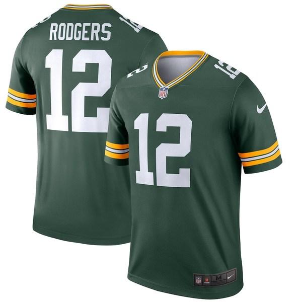 ナイキ メンズ シャツ トップス Aaron Rodgers Green Bay Packers Nike Legend Jersey Green