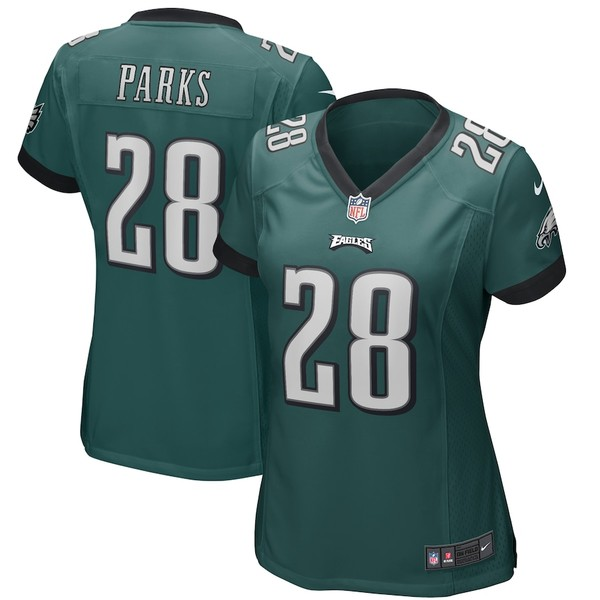 ナイキ レディース シャツ トップス Will Parks Philadelphia Eagles Nike Women's Player Game Jersey Midnight Green