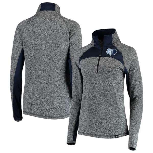 ファナティクス レディース ジャケット&ブルゾン アウター Memphis Grizzlies Fanatics Branded Women's Static Quarter-Zip Pullover Jacket Heathered Gray