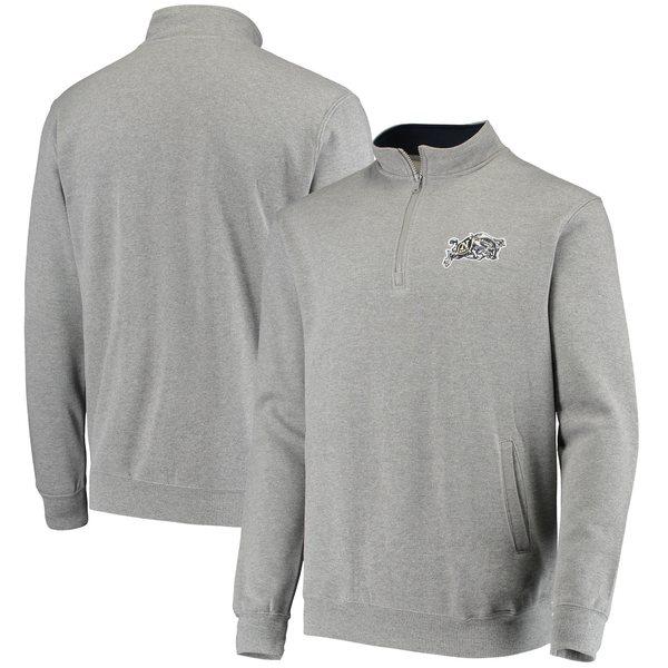 コロシアム メンズ ジャケット&ブルゾン アウター Navy Midshipmen Colosseum Tortugas Logo QuarterZip Jacket Navy