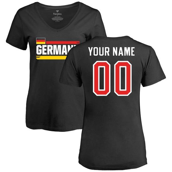 ファナティクス レディース Tシャツ トップス Germany Women's Personalized Name & Number TShirt Black